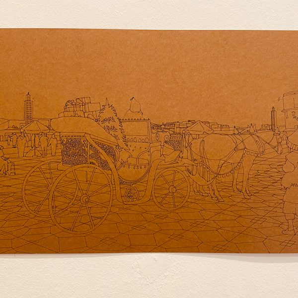 Marie Bastide 2020 50x70cm Gravure